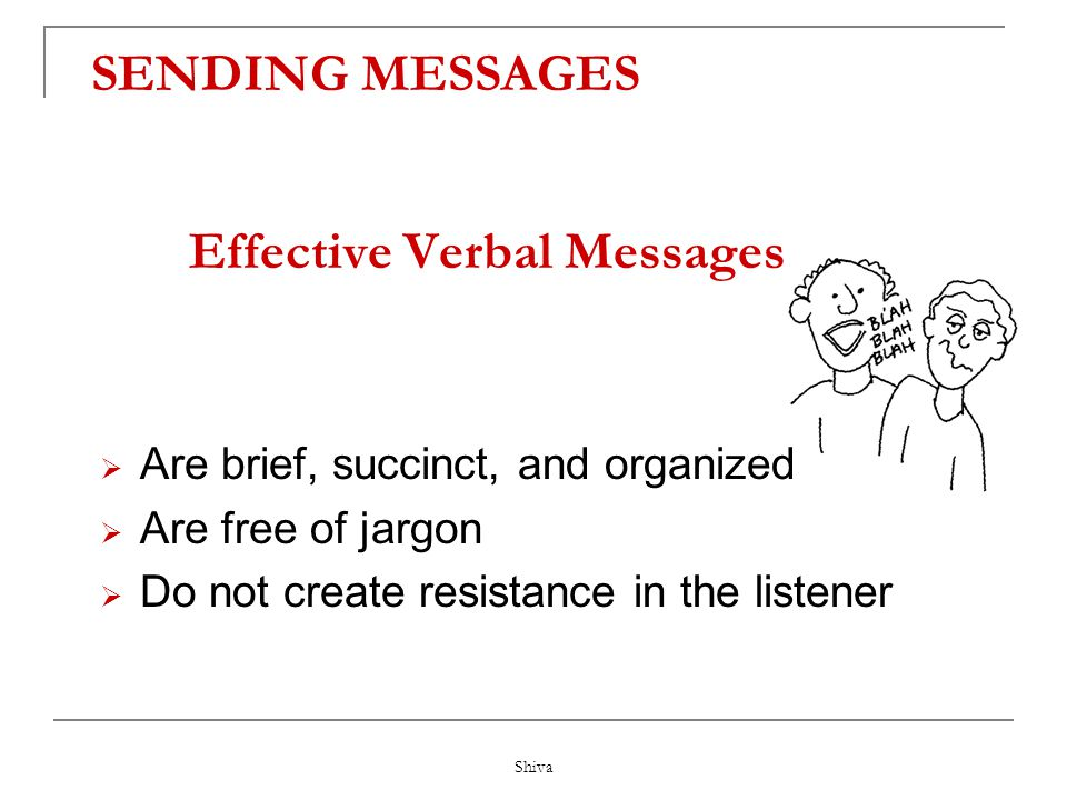 Effective Verbal Messages