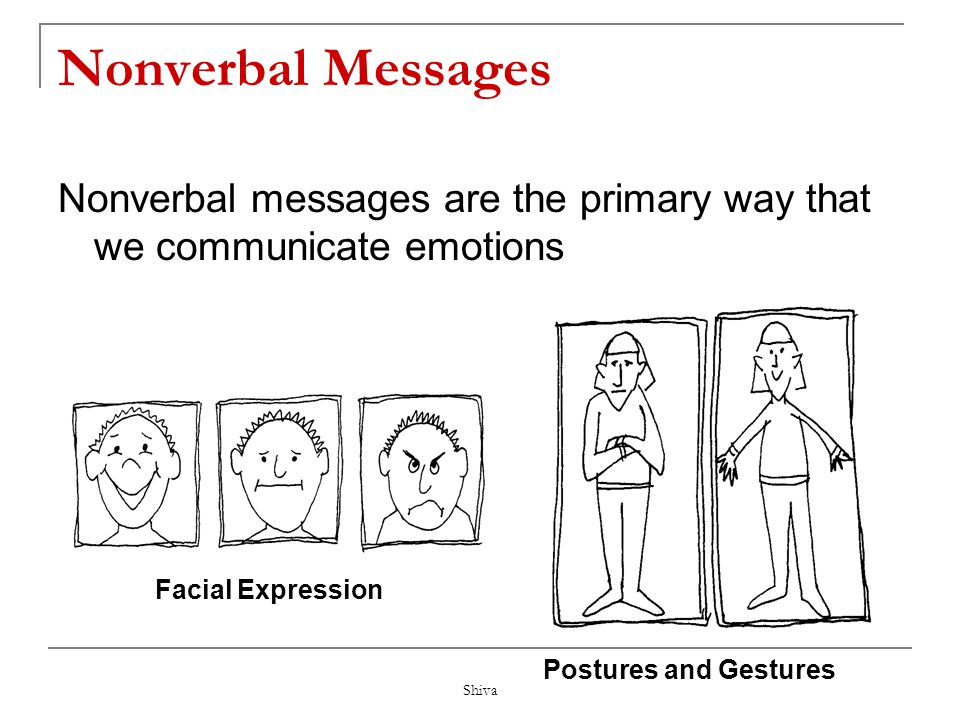 Nonverbal Messages Nonverbal messages are the primary way that we communicate emotions. Facial Expression.
