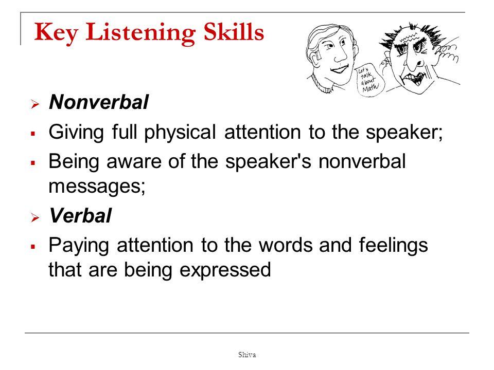 Key Listening Skills Nonverbal