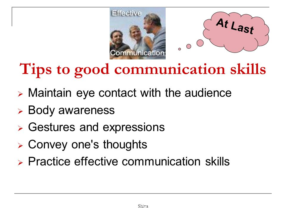 Tips to good communication skills