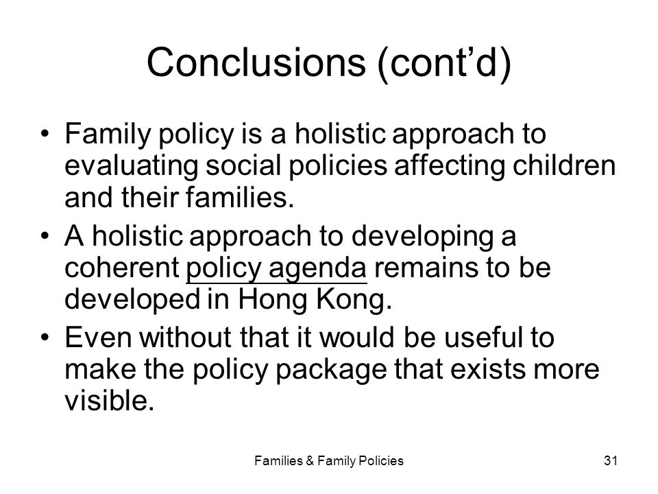 Families & Family Policies