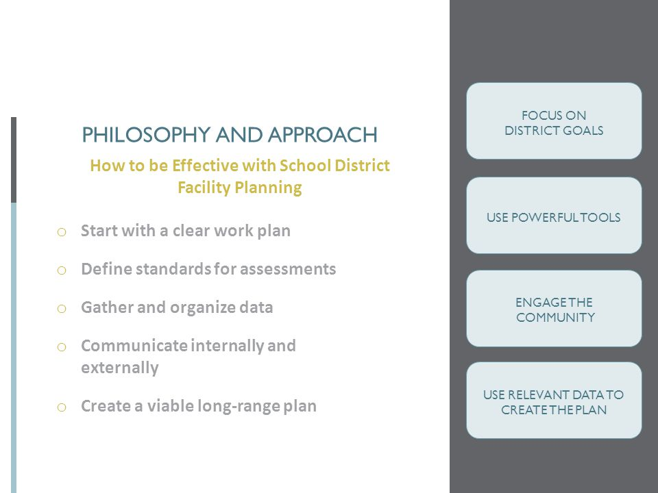 Philosophy and approach