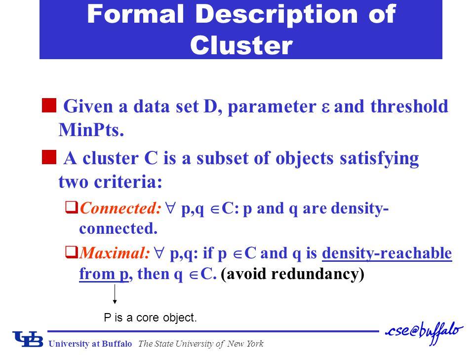 Formal Description of Cluster