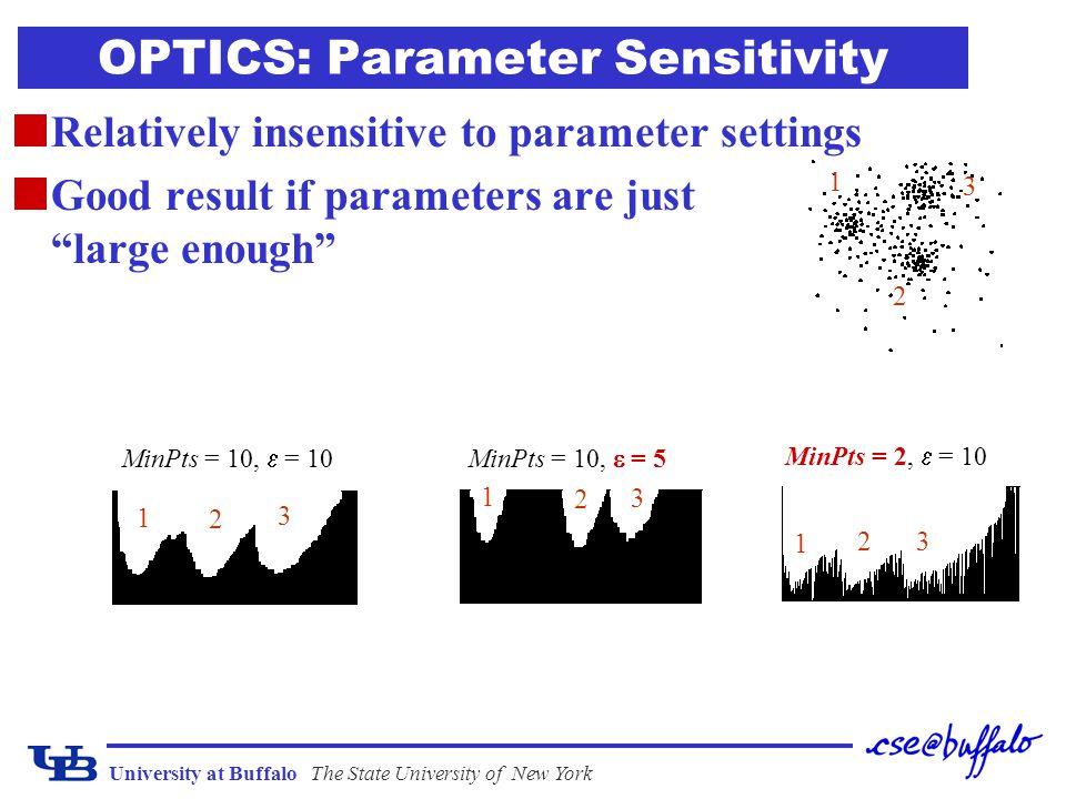 OPTICS: Parameter Sensitivity