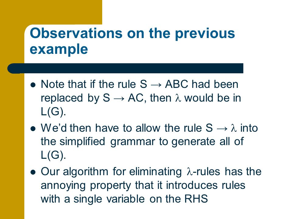 Observations on the previous example