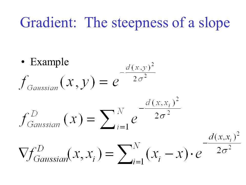 Gradient: The steepness of a slope