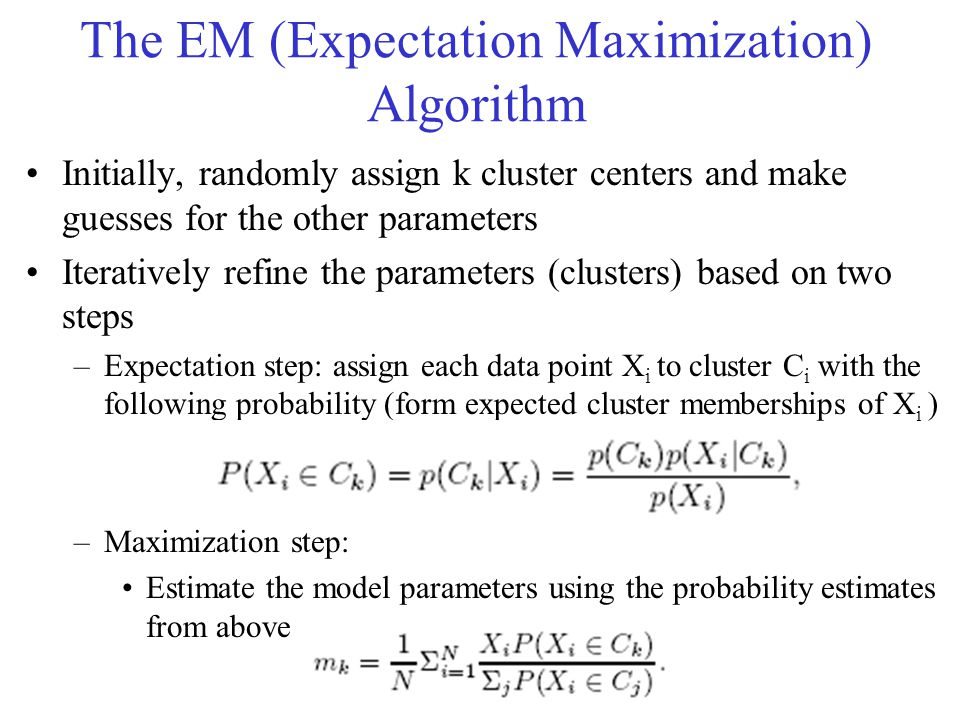 The EM (Expectation Maximization) Algorithm