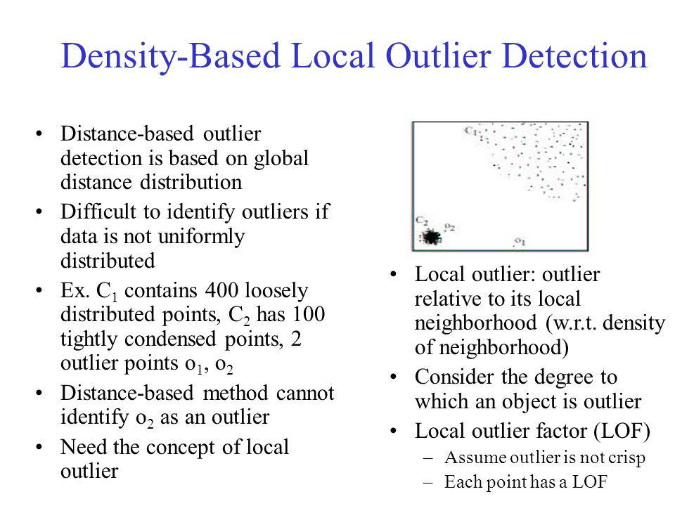 Density-Based Local Outlier Detection