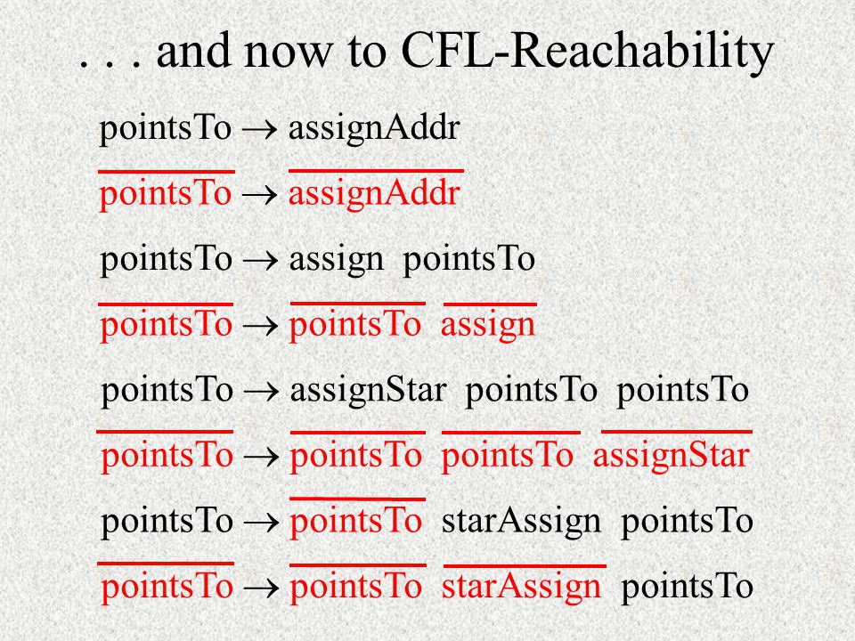 . . . and now to CFL-Reachability