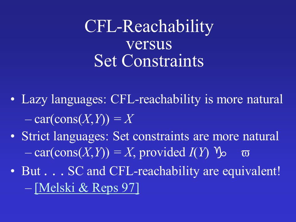 CFL-Reachability versus Set Constraints