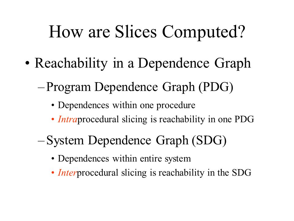 How are Slices Computed