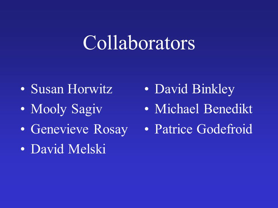 Collaborators Susan Horwitz Mooly Sagiv Genevieve Rosay David Melski