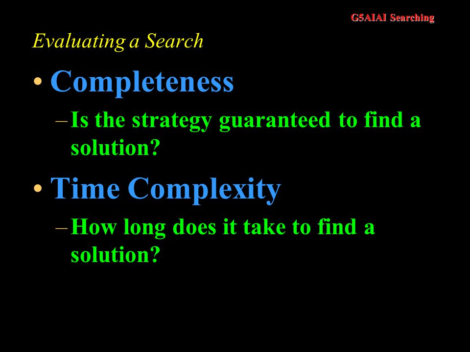 Completeness Time Complexity