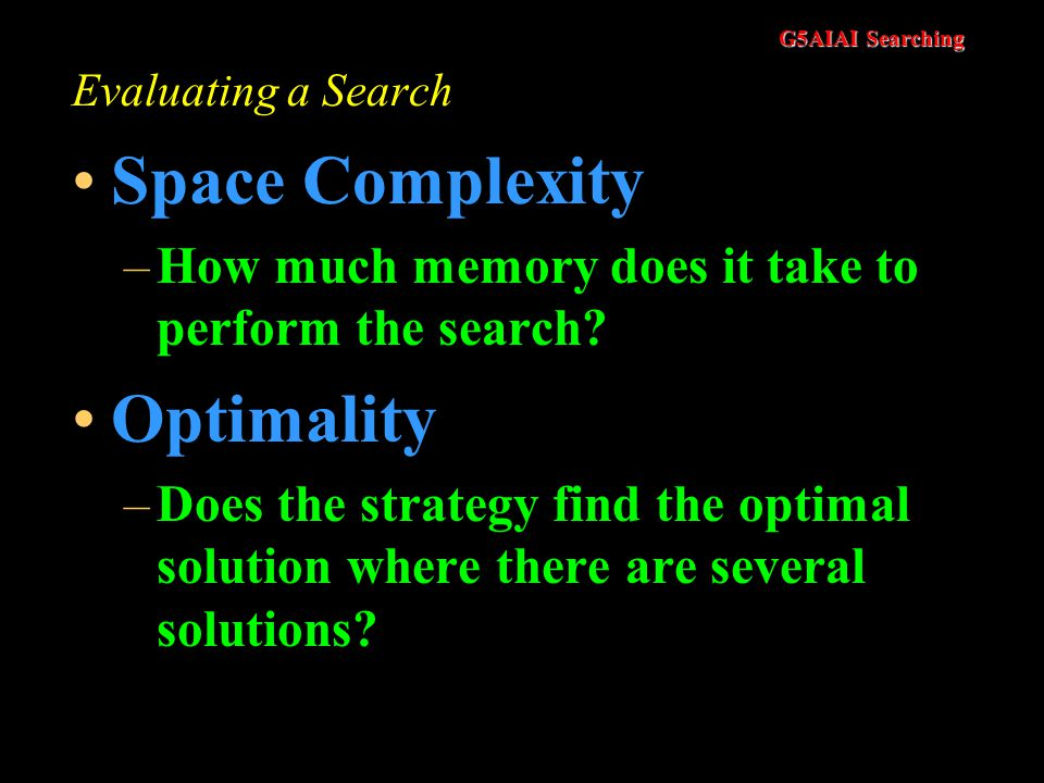 Space Complexity Optimality