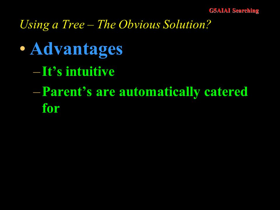 Using a Tree – The Obvious Solution
