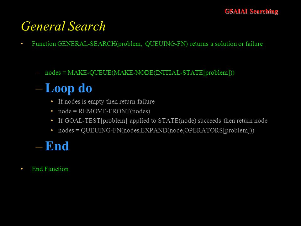 General Search Loop do End