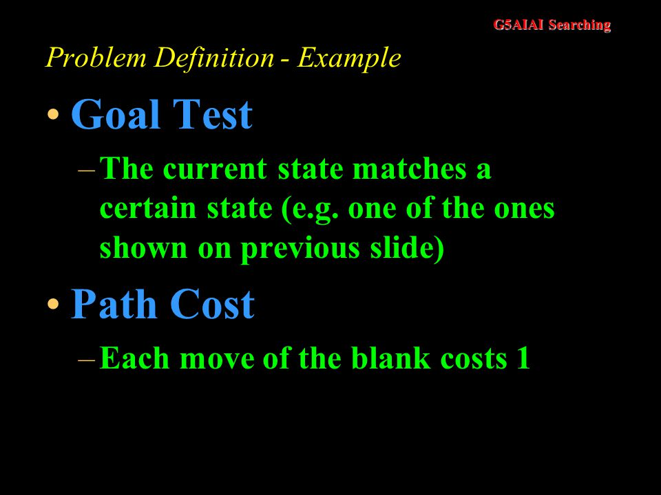 Problem Definition - Example