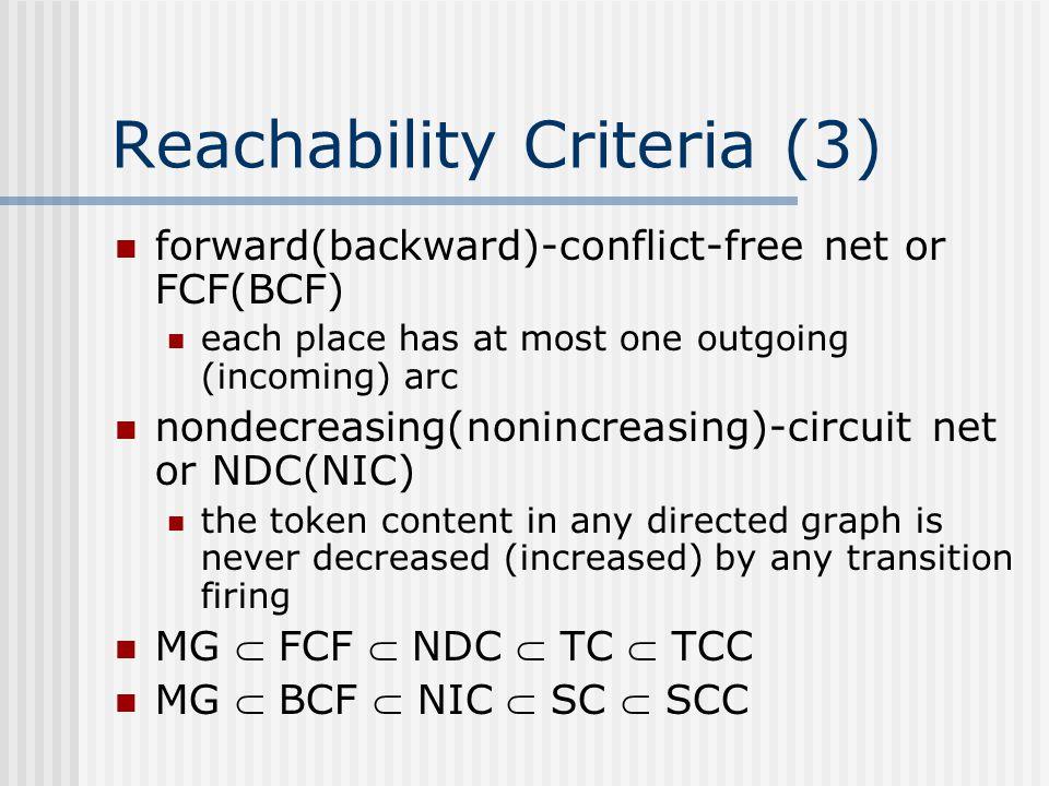 Reachability Criteria (3)