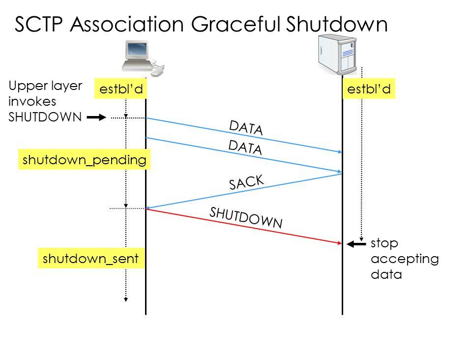 SCTP Association Graceful Shutdown