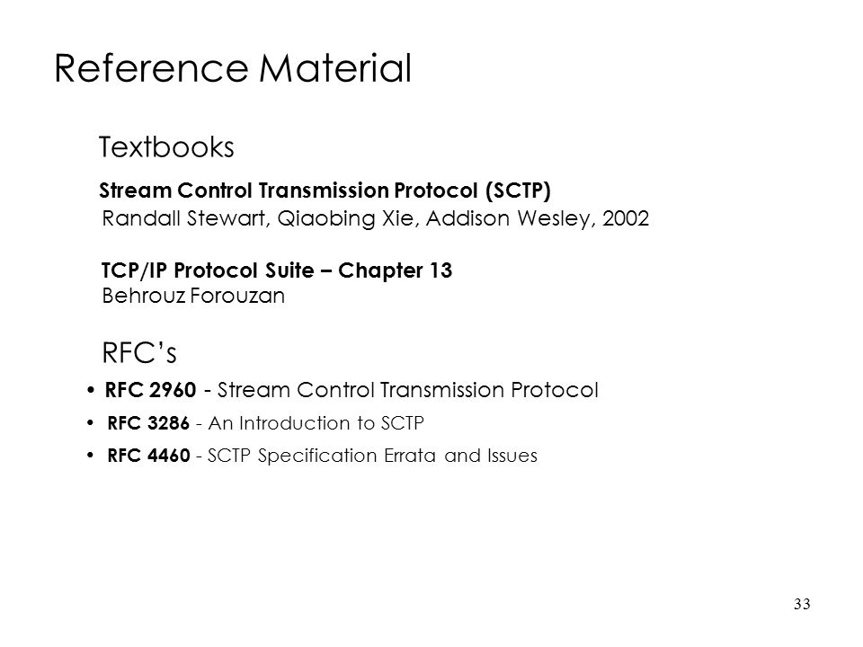 Reference Material Textbooks