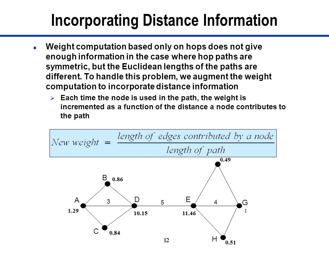 Incorporating Distance Information