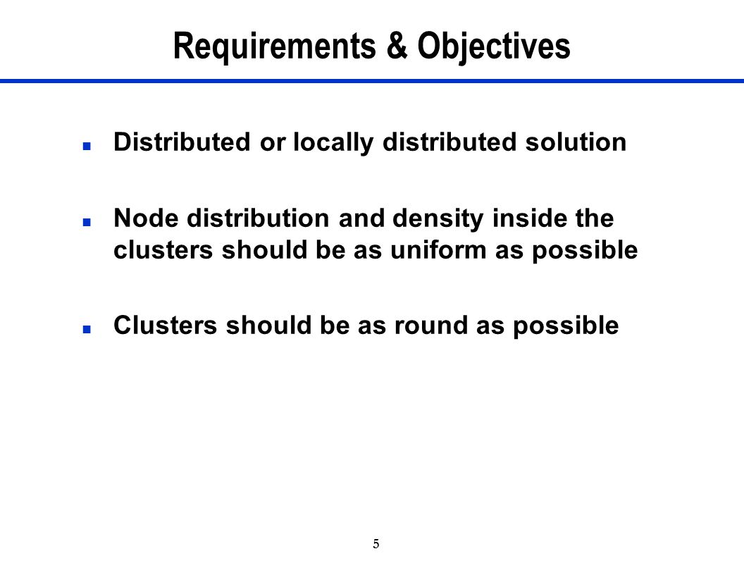Requirements & Objectives