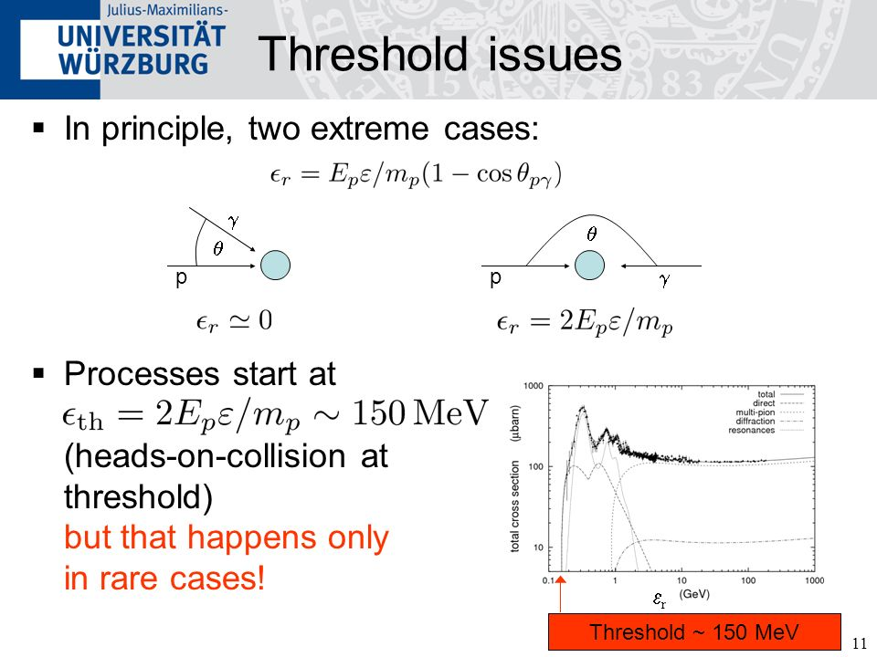 Threshold issues In principle, two extreme cases: