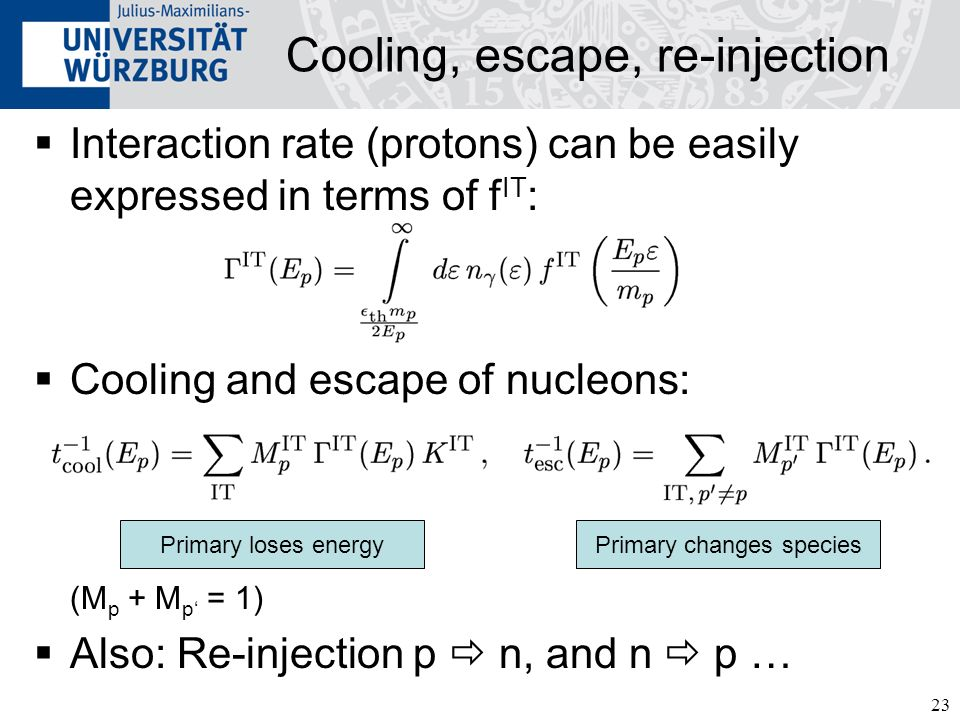 Cooling, escape, re-injection