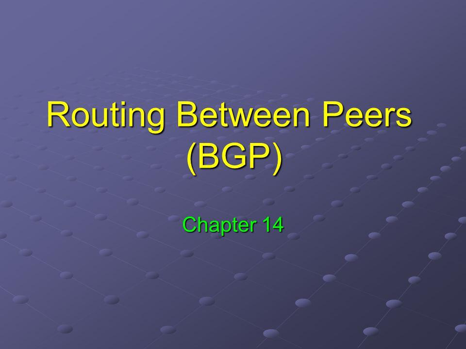 Routing Between Peers (BGP)