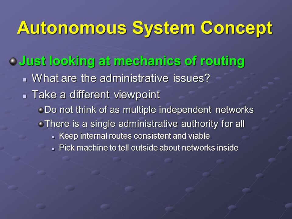 Autonomous System Concept