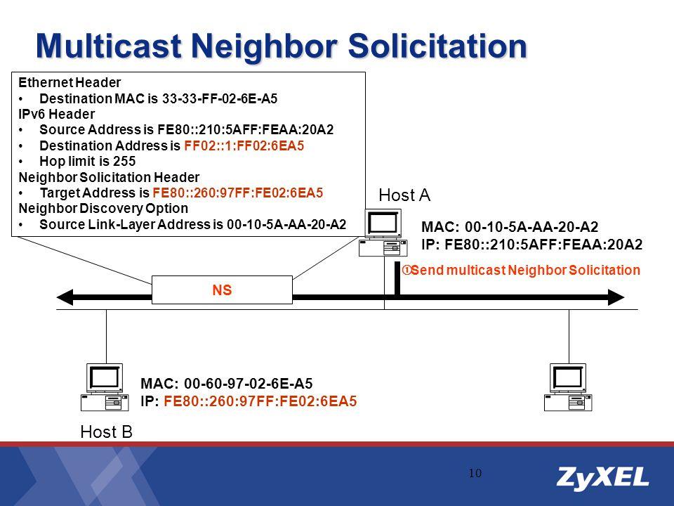 Multicast Neighbor Solicitation