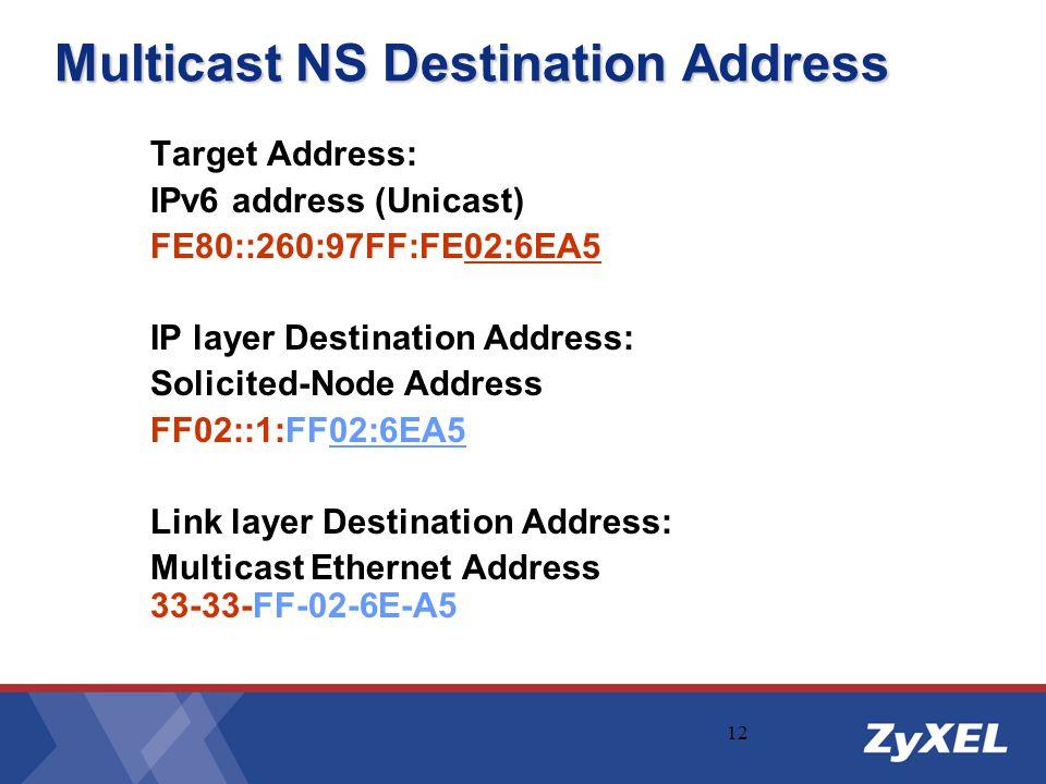 Multicast NS Destination Address