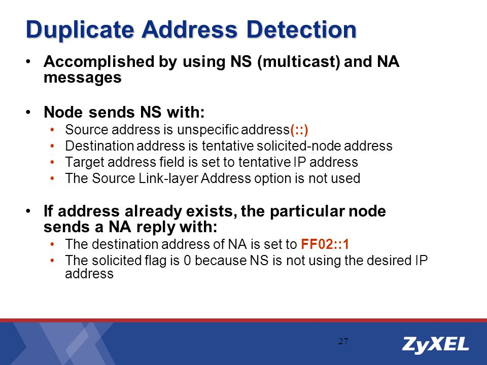 Duplicate Address Detection
