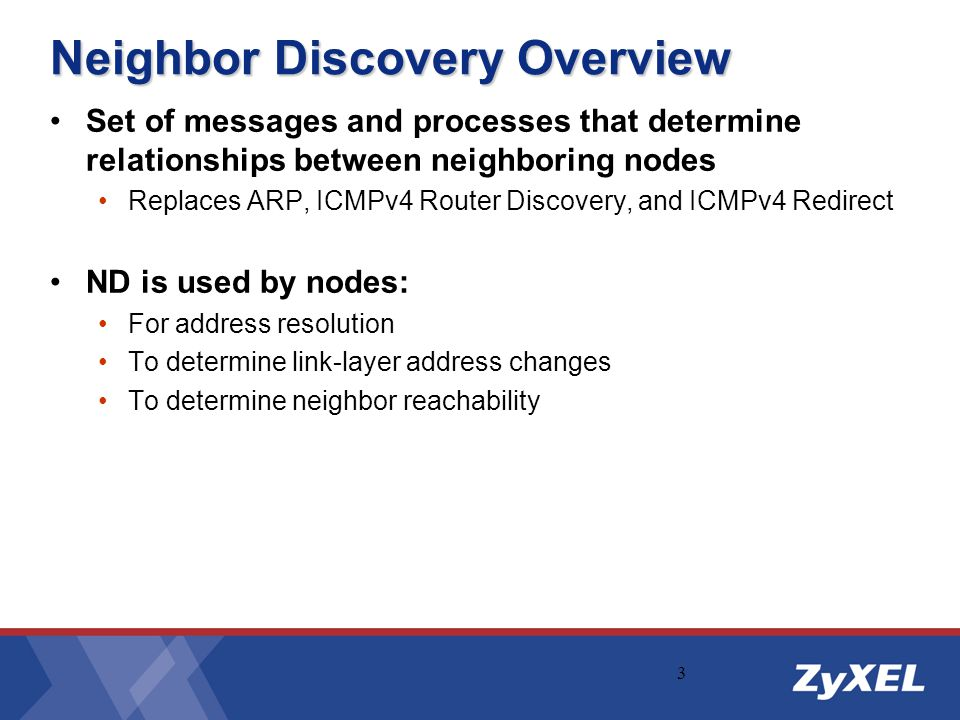 Neighbor Discovery Overview