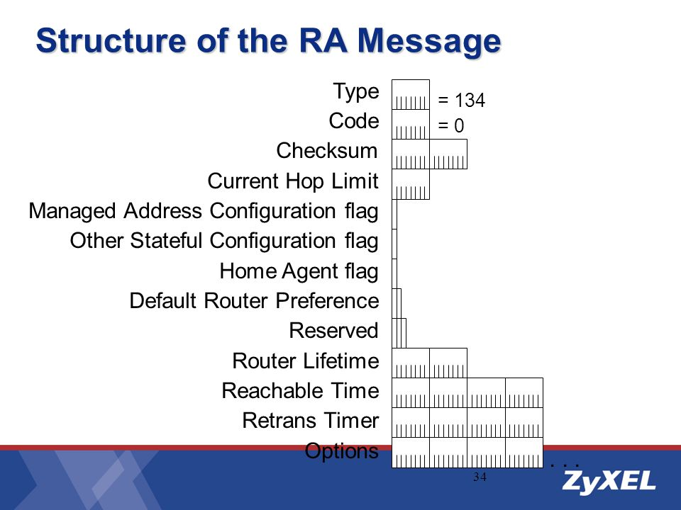 Structure of the RA Message