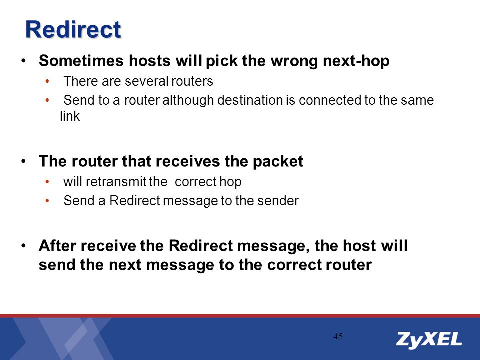 Redirect Sometimes hosts will pick the wrong next-hop