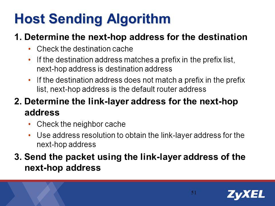 Host Sending Algorithm