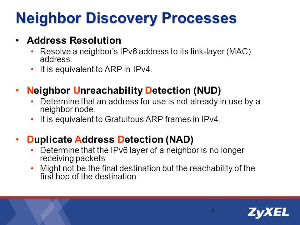 Neighbor Discovery Processes