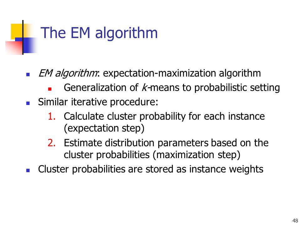 The EM algorithm EM algorithm: expectation-maximization algorithm