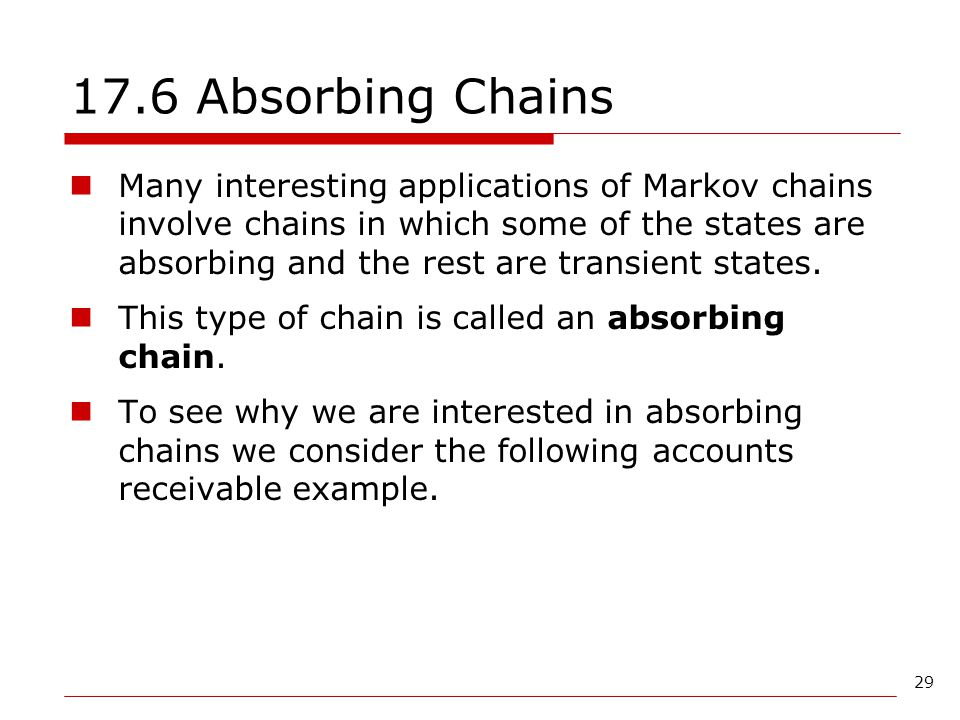 17.6 Absorbing Chains