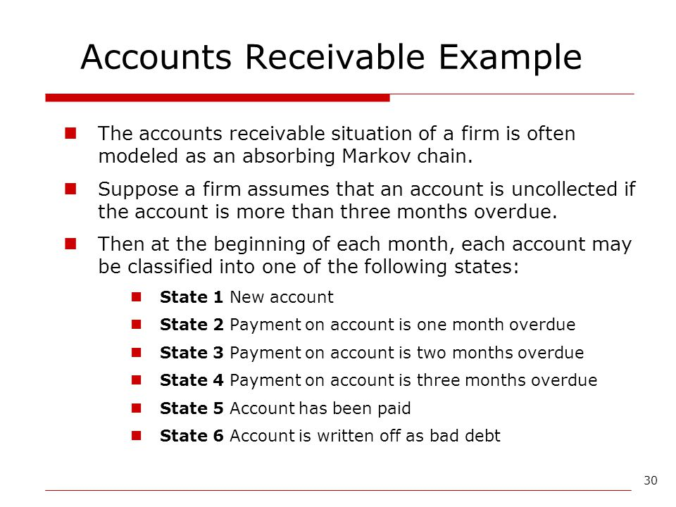 Accounts Receivable Example