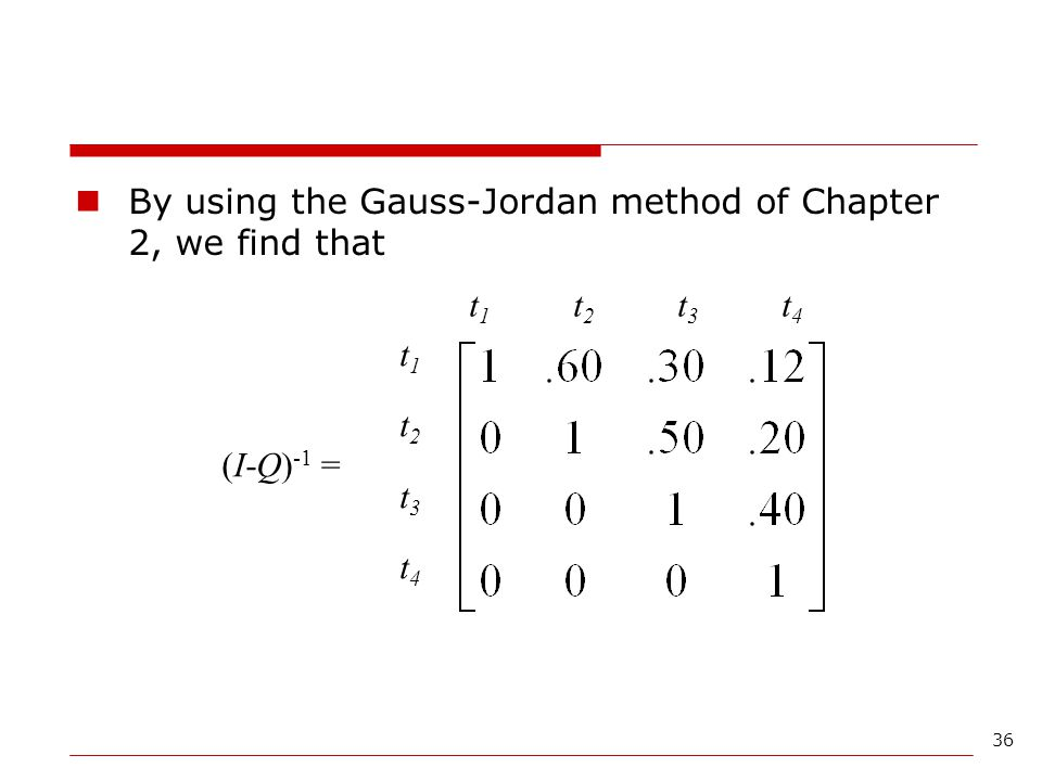 By using the Gauss-Jordan method of Chapter 2, we find that