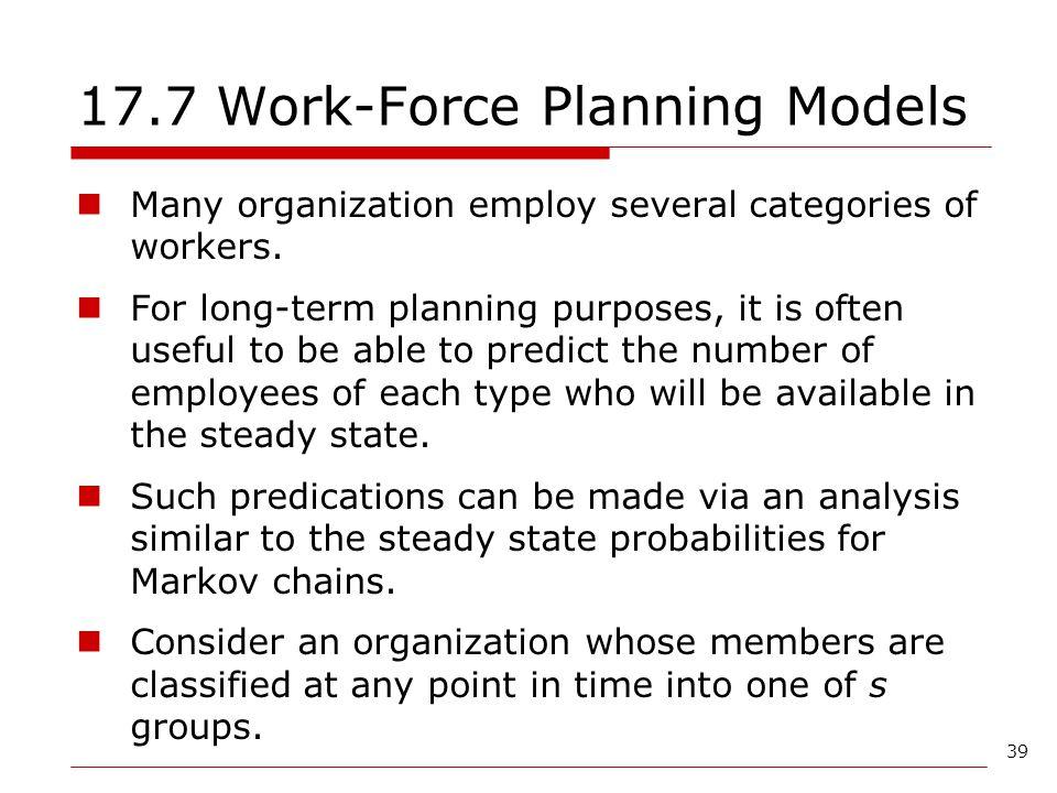 17.7 Work-Force Planning Models
