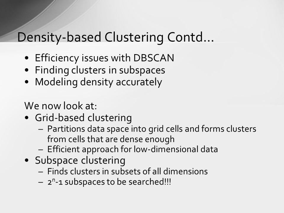 Density-based Clustering Contd…