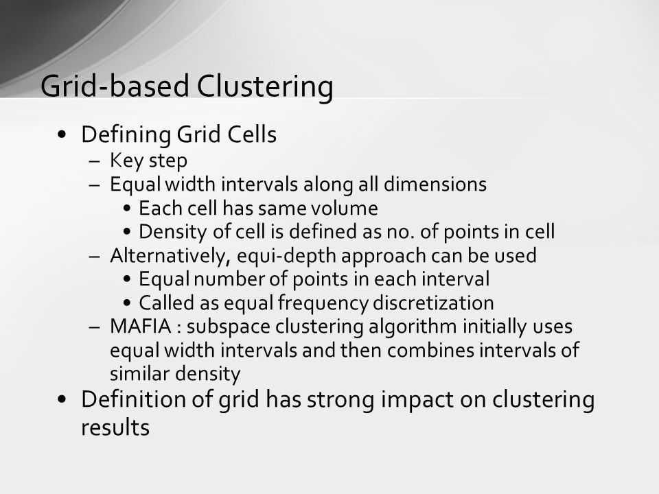 Grid-based Clustering
