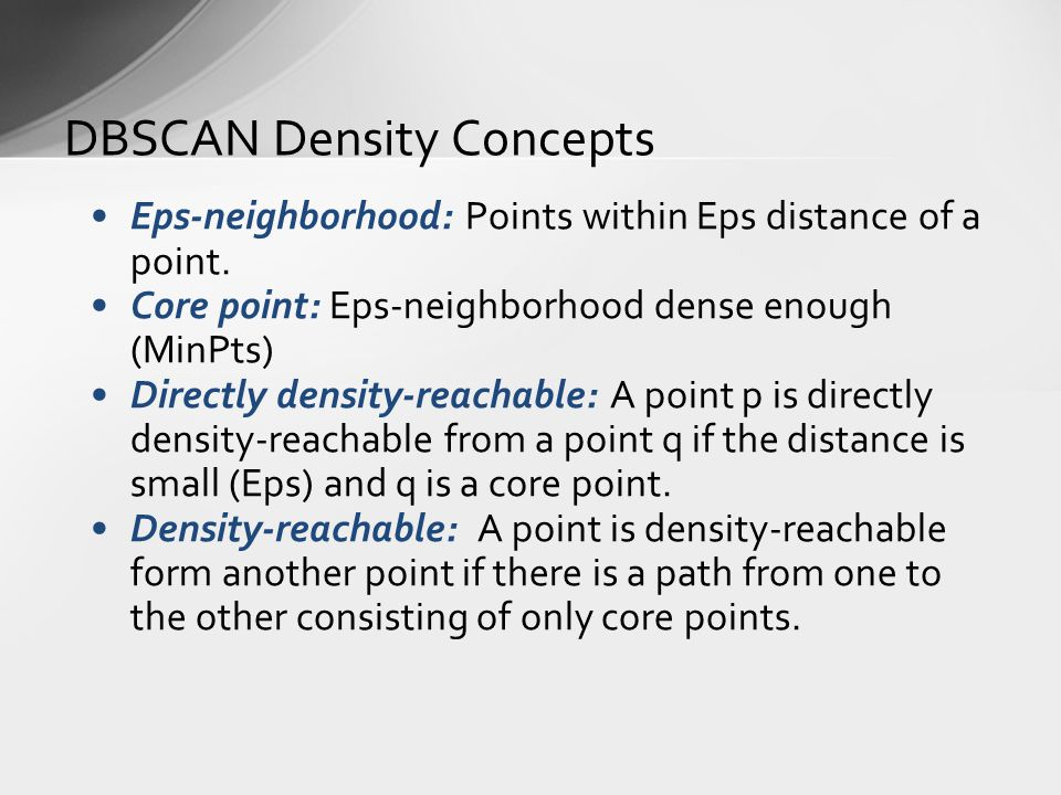DBSCAN Density Concepts