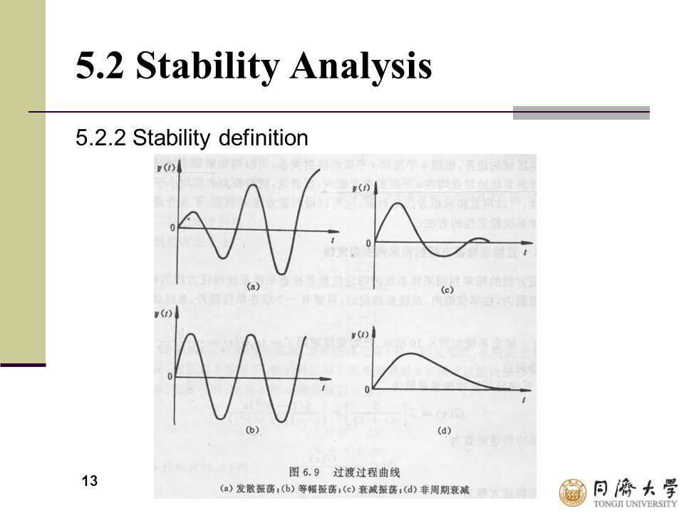5.2 Stability Analysis 5.2.2 Stability definition