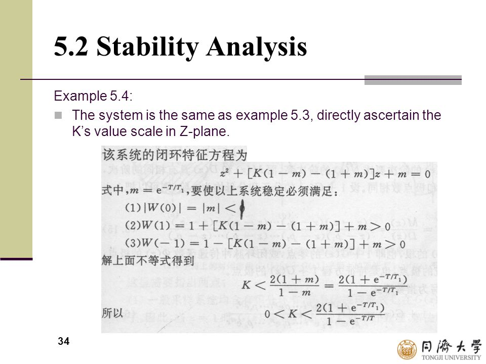 5.2 Stability Analysis Example 5.4: