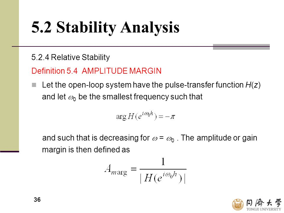5.2 Stability Analysis 5.2.4 Relative Stability