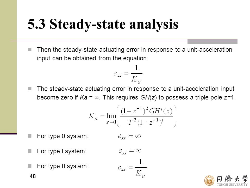 5.3 Steady-state analysis